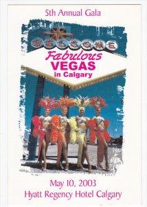 5th Annual Gala , vegas in Calgary , Hyatt Regency Hotel , CALGARY , Alberta ...