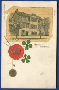 Gruss aus Weimar Germany postcard