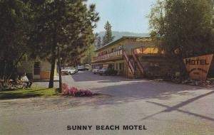 Sunny Beach Motel,  across the park on Skaha Lake,  Penticton,   B.C.,  Canad...