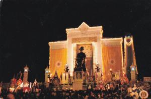 RATTAMAKOSIN, Thailand, 40-60s; Night Scene, Statue of King Rama I,