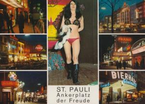St Pauli Ankerplatz Der Freude Red Light German Postcard