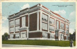 Boonville Missouri~Laura Speed Elliott High School~Ladies in Fur on Corner~1920