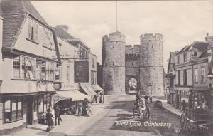 CANTERBURY, Kent, England, 1900-1910's; West Gate, Horse Carriages