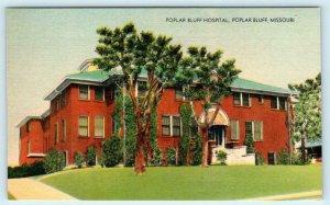 POPLAR BLUFF, Missouri MO ~ POPLAR BLUFF HOSPITAL ca 1940s Linen Postcard