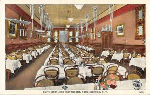 Poughkeepsie New York Smith Brothers Restaurant Antique Postcard J53179