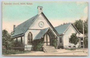Beloit Kansas~Episcopal Church~Circular Window Above Entrance~1910 Postcard