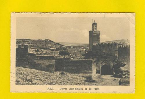 postcard & stamp MOROCCO FEZ FES 1926 BAB-GUISSA