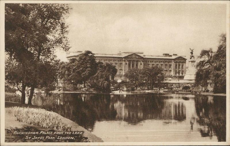 Buckingham Palace St James Park London real Photogravure Philco