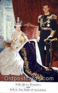Queen Elizabeth II & Duke of Edinburgh British Royalty Postcard Postcards  Qu...