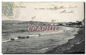 Postcard Old Cannes Beach