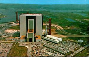 Florida John F Kennedy Space Center Vehicle Assembly Building With Apollo Sat...