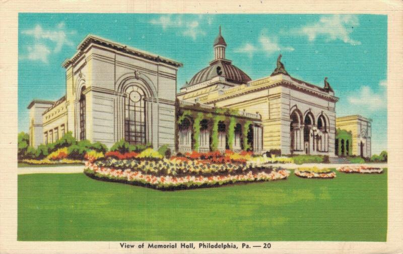 USA View of Memorial Hall Philadelphia 01.70