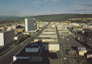 Birdseye View, City of Prince George, British Columbia, Canada, 50-70´s