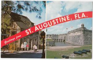 Greetings from St. Augustine, Florida, unused Postcard