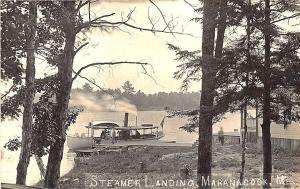 Winthrop ME Steamer Maranacook Steamer Landing RPPC Postcard