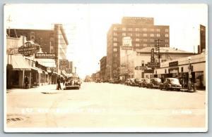 Billings MT Davisson Ladies~Litening Gasoline~Rite-Tex Clothes~&17.50~RPPC 1940s