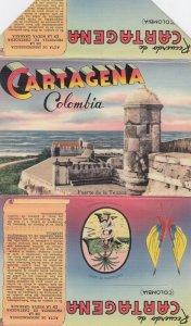 CARTAGENA , Colombia , 1930-40s ; Folder postcard