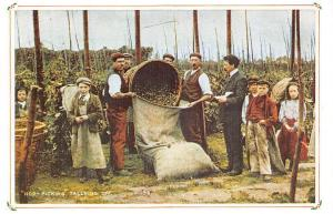Hop-Picking Tallying Off Workers Work Kent? 1900s Nostalgia Reprint