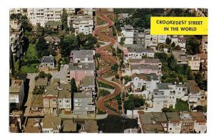 San Francisco CA St The Crookedest Street in the World Lombard St Vntg Postcard