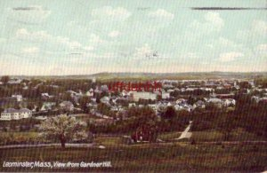 LEOMINSTER, MA VIEW FROM GARDNER HILL 1908