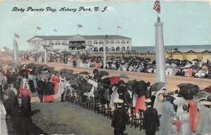 Asbury Park New Jersey~Baby Parade Day~Crowd w Umbrellas~Lots of Flags~1908 Pc