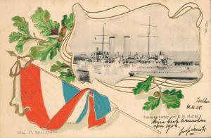 Netherlands Pantserdekschiup der K.N. Marine Nautice Postcard 02.72