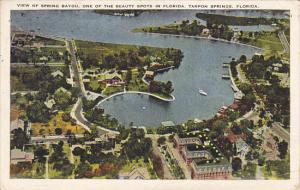 Aerial View Of Spring Bayou Tarpon Springs Florida 1927