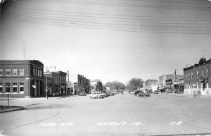 Onawa Iowa Avenue Street Scene Real Photo Antique Postcard K91032