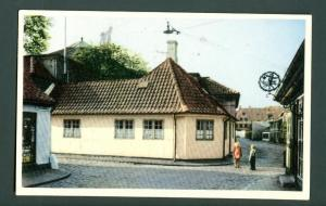 Denmark. Postcard. H.C. Andersen, House,Odense. 1956.