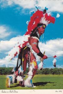 Native American Indian in Full Dress, War Dance, Canada, PU-1989