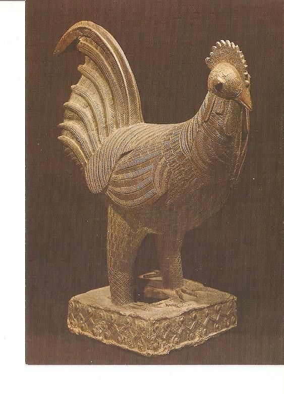 Postal 022142 : Benin (post 1500A.D.) bronze cock cast for the queen mothers ...