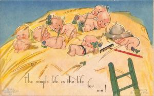 Rose O' Neill Kewpie The simple life for me! Postcard