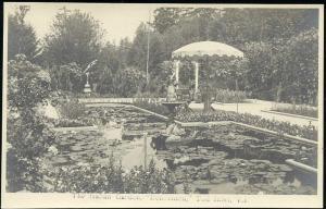 canada, TOD INLET, V.I., Benvenuto, Italian Garden (1930s) RPPC