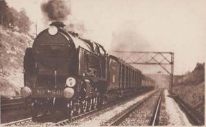 Ocean Liner Express Train Antique Railway London Photochrom Railways Postcard