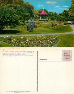 Bublic Gardens of Halifax, Nova Scotia, Canada, Pre-zip code Chrome