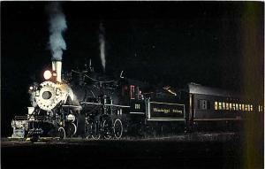 Mississippi Railway #203 at Night Columbia Mississippi MS,