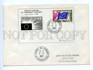 417945 FRANCE Council of Europe 1963 year Strasbourg European Parliament COVER