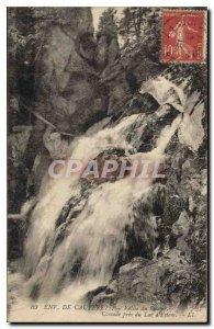 Old Postcard Around Cauterets Cascade near the Lake Estom
