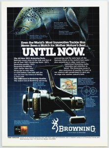 1985 Browning 810 Fishing Reel Old Fishing Reel Print Ad