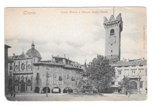 Trento Italy Casa Rello e Torre Della Citta Vintage Luigi Marsoner UDB Postcard
