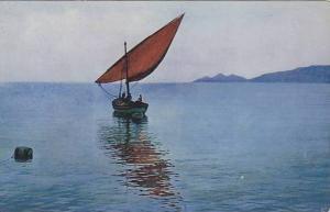 Sailboat, Riviera Di Levante, Rapallo, Italy, 1900-1910s