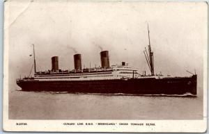 CUNARD LINE Steamship Real Photo RPPC Postcard R.M.S. BERENGARIA c1930s Unused