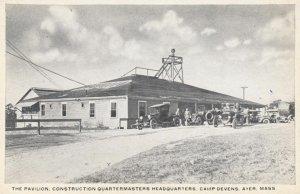 AYER, Massachusetts, 1900-10s; The Pavilion, Construction Quartermasters Head...