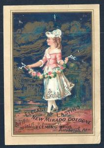 VICTORIAN TRADE CARD Mikado Cologne & Liver Pills