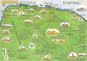 Map Of England Norfolk.Uk7808 Berney Arms And Breydon Water River Yare Norfolk Broads Uk