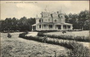 Salisbury MD Allen's Residence c1910 Postcard