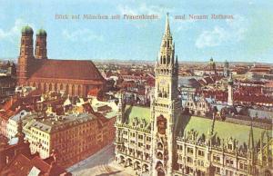Munich Church and Town Hall, Frauenkirche und Neuem Rathaus