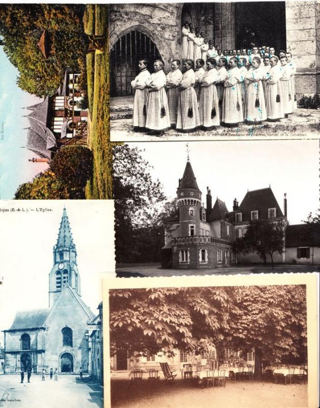 EURE-et-LOIR Centre (Dep 28) 284 Cartes Postales 1900-1940