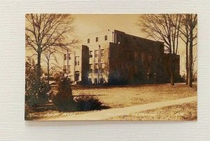 RPPC Malvern Arkansas Court House 1939 Postcard Side View Lawn