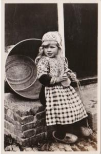 Netherlands Marken Young Girl In Traditional Costume Real Photo